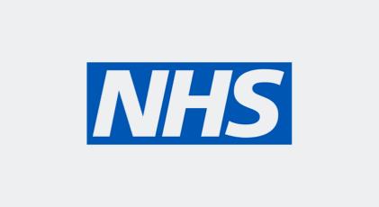 NHS logo.